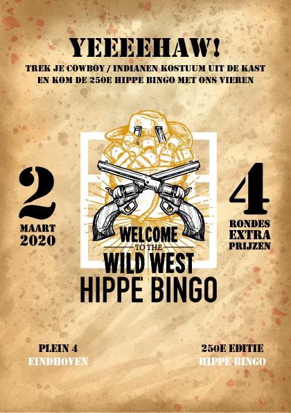 Wild west hippe bingo editie